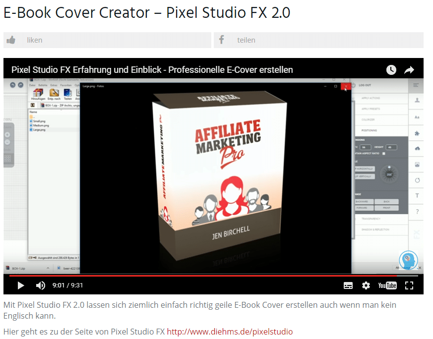 EBook Cover Creator Pixel Studio FX